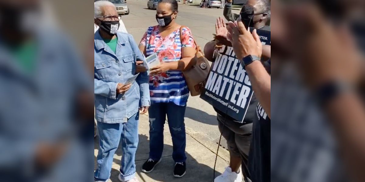 Video captures 91-year-old Delta woman on her way to vote for the first time