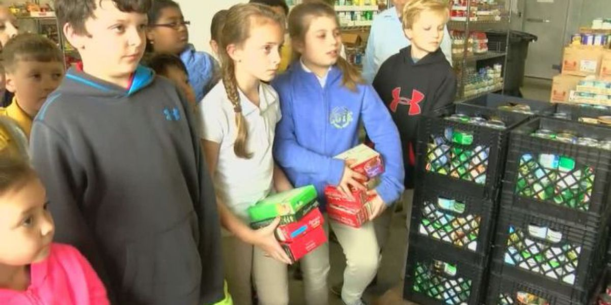 Hancock Co. pantry gets a helping hand from area children