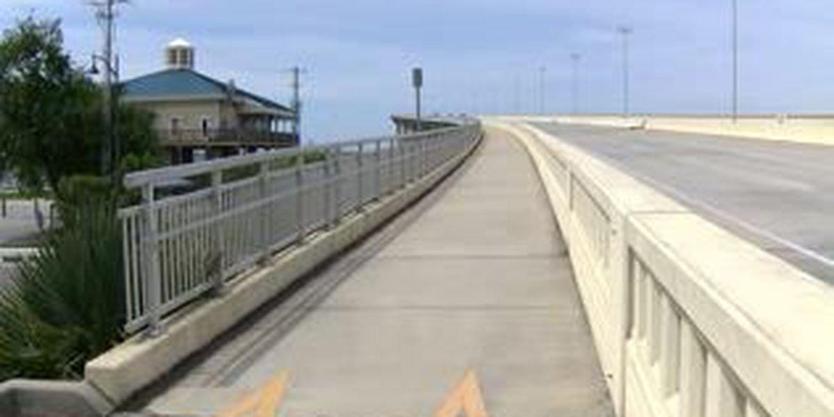 Security cameras on the way to Biloxi Bay Bridge