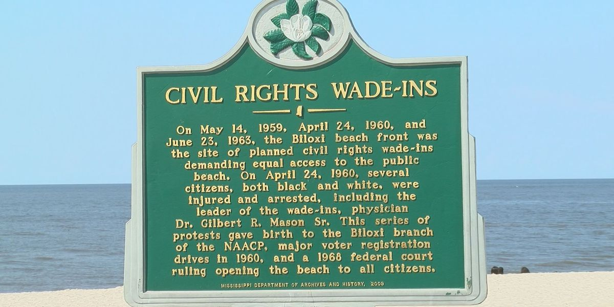 Crowd gathers to commemorate Biloxi wade-ins
