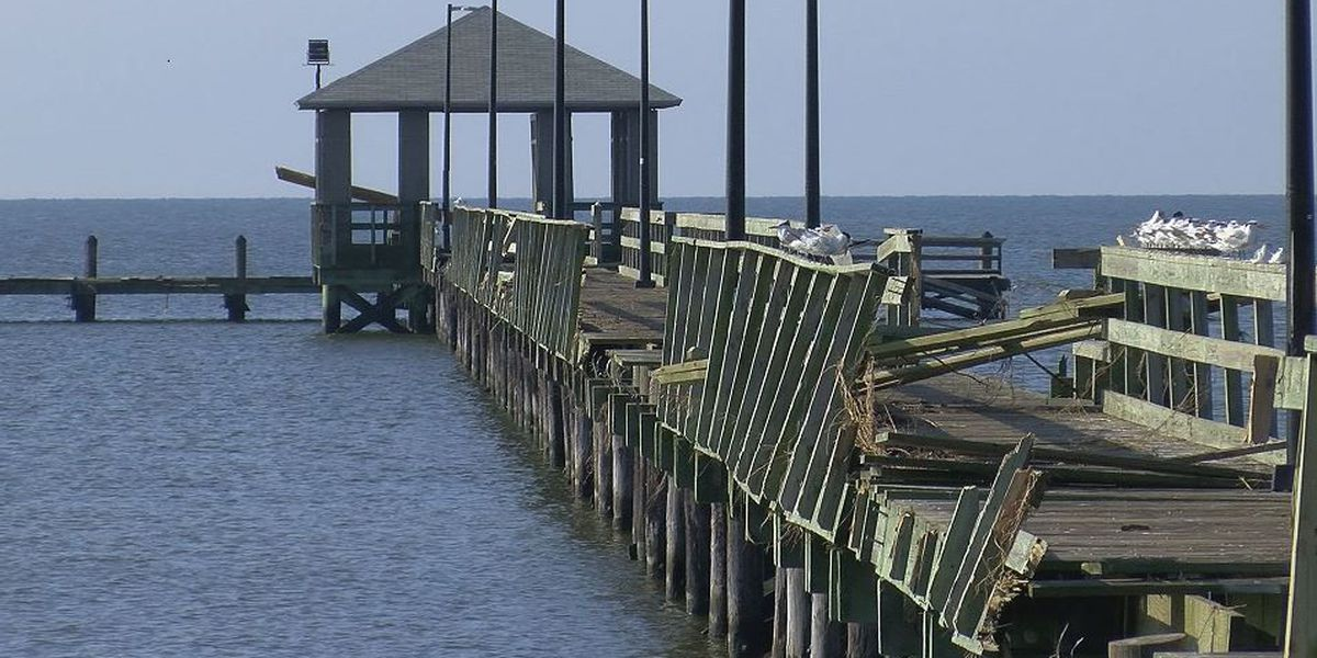 Nate leaves behind questions about rebuilding piers