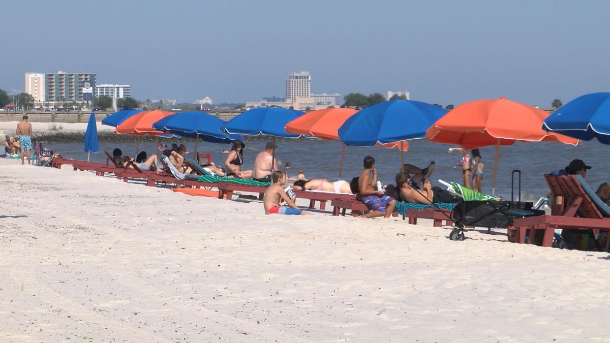 Visitors Flock To Open Biloxi Beach In High Numbers