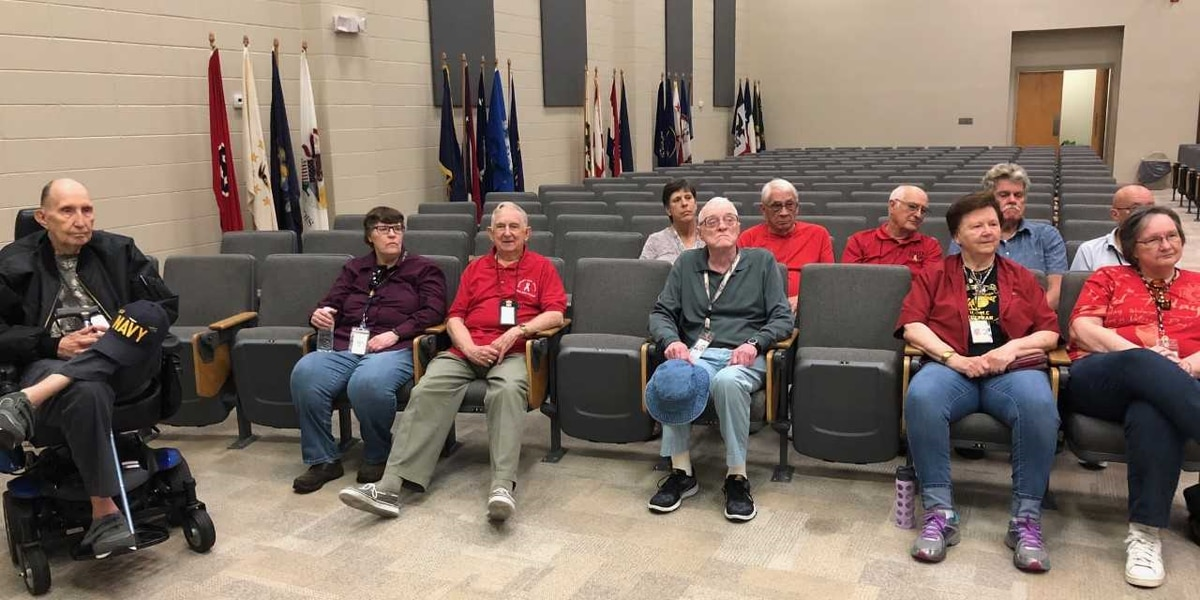 Military retirees tour CRTC base in Gulfport