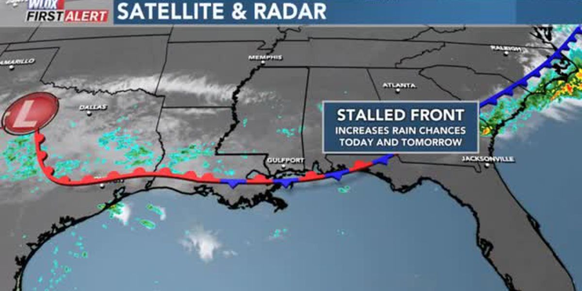 FORECAST VIDEO: 10-14-19 Nearby stalled front brings rain chances