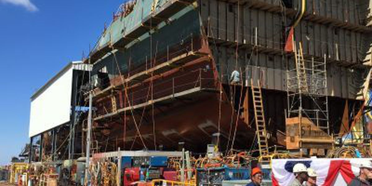 Ingalls hosts keel ceremony for NSC Kimball