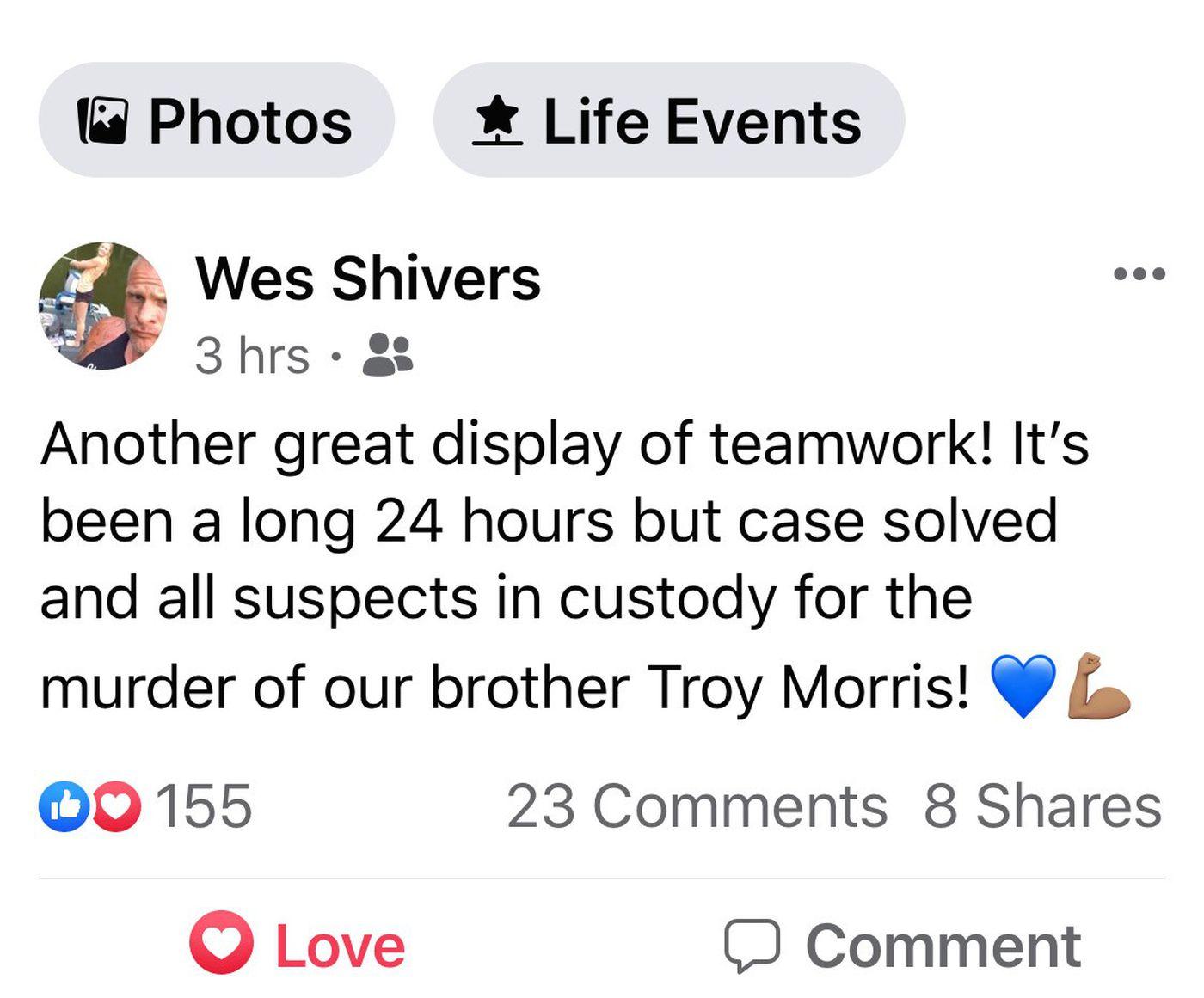 Rankin Deputy Wes Shivers