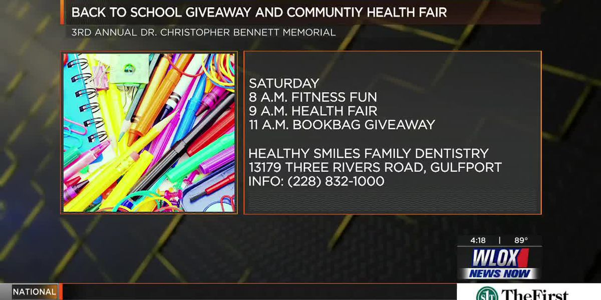 Happening August 3rd: Back to School Giveaway & Community Health Fair