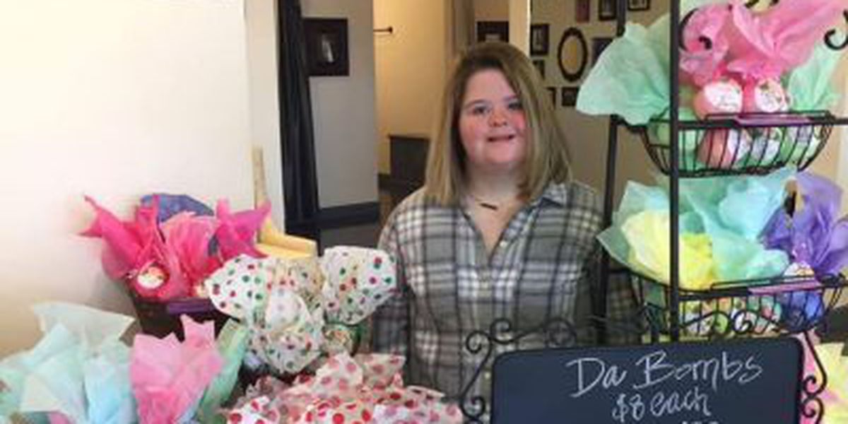 Mississippi special needs teen sells bath bombs to pay for college