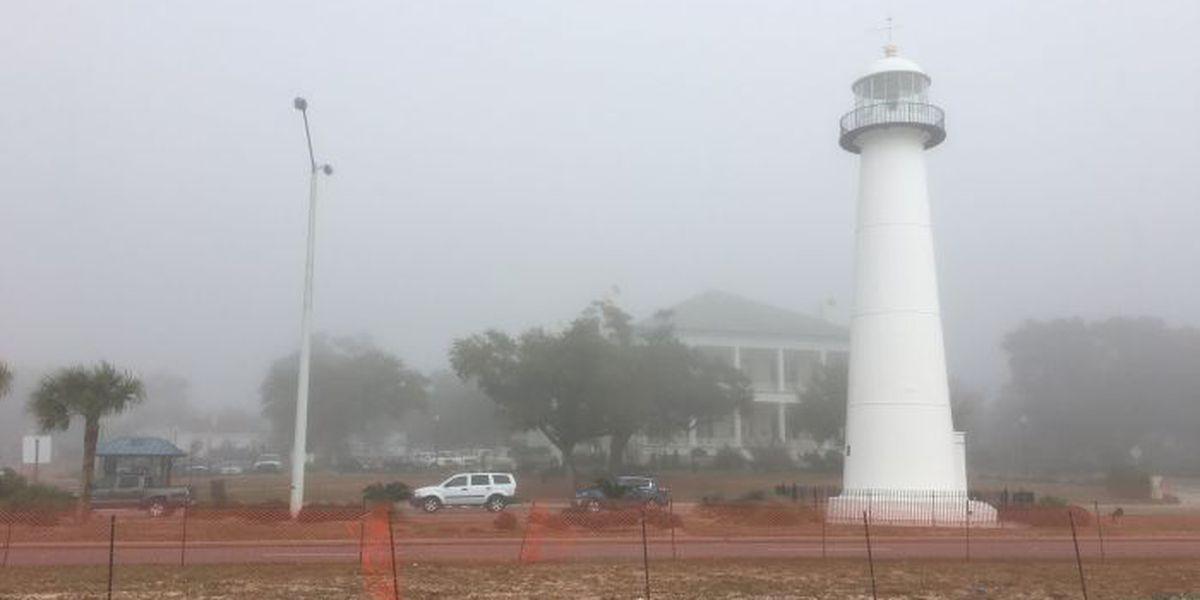 Day 2: Heavy fog blankets the MS Gulf Coast