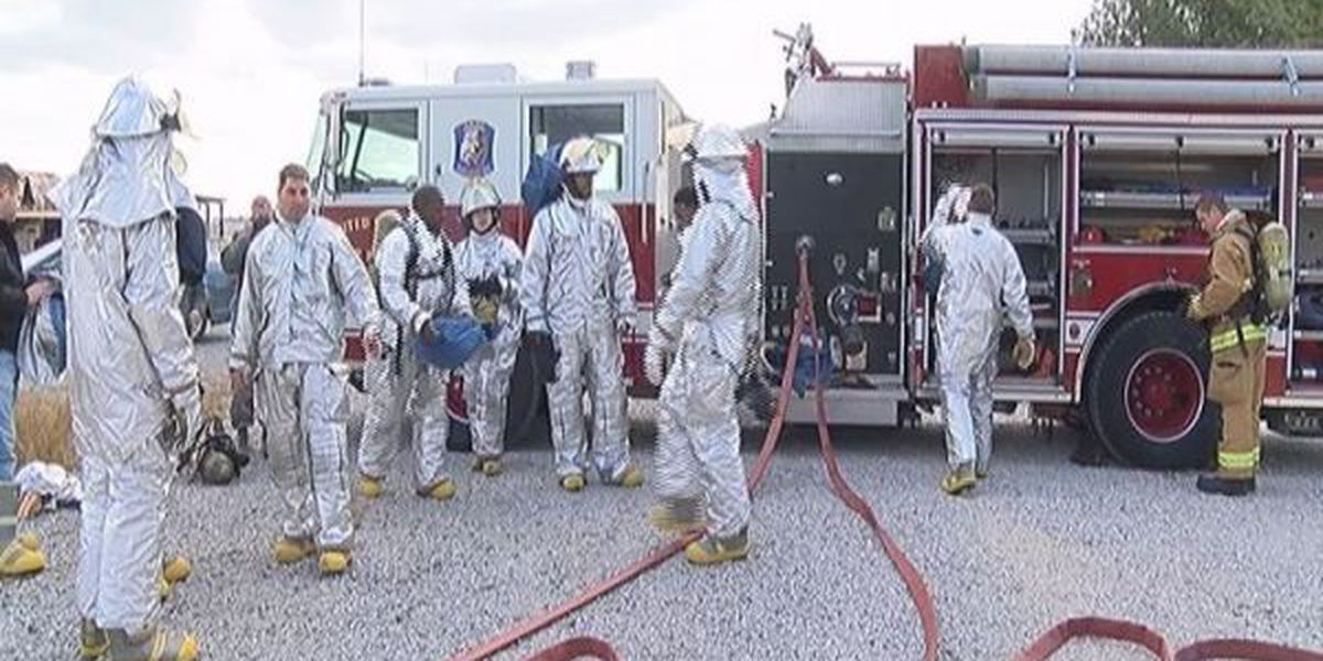 Keesler's 403rd Civil Engineering Squadron gets annual fire training