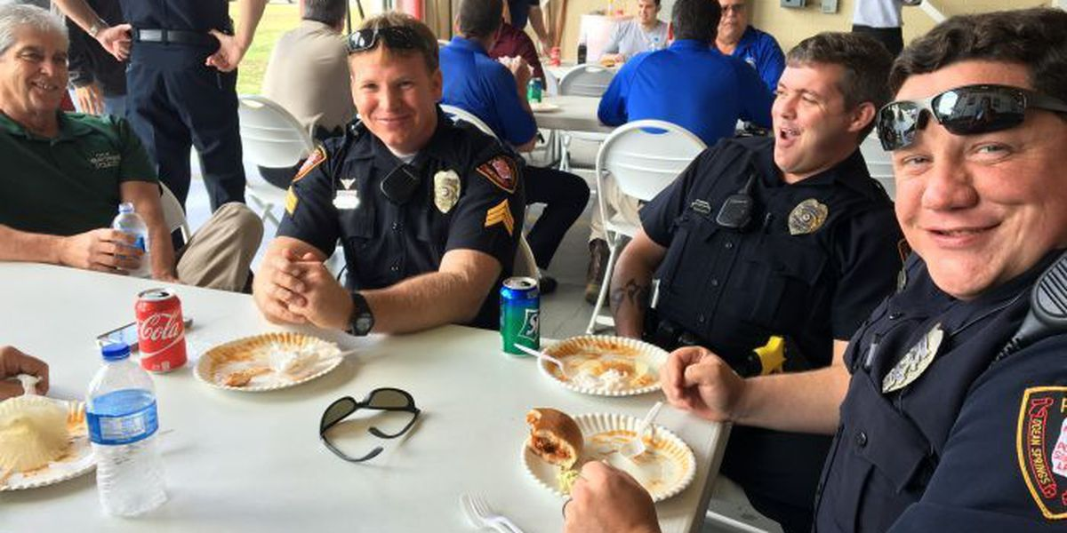 OS organization thanks police, firefighters with BBQ