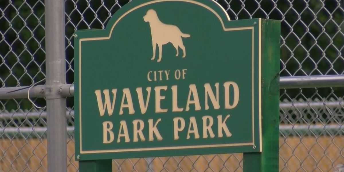 Waveland celebrates opening of new town green and bark park