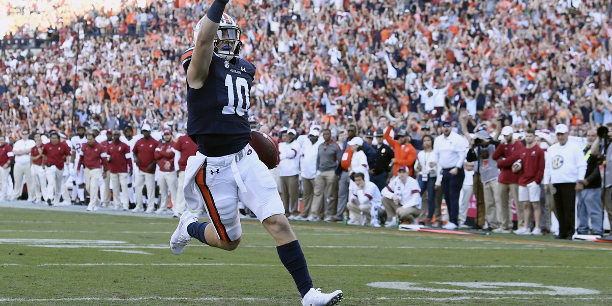 No. 15 Auburn stuns No. 5 Alabama 48-45 in 2019 Iron Bowl