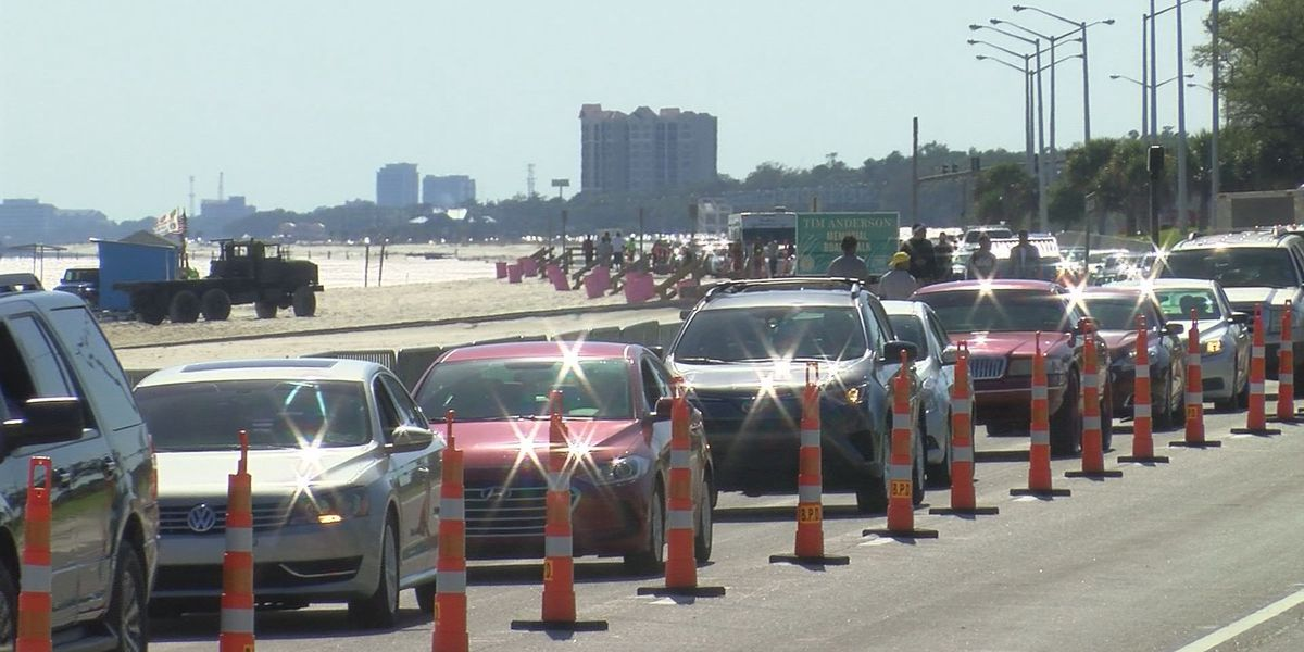 Cruisers will see cones on Hwy. 90 in Biloxi