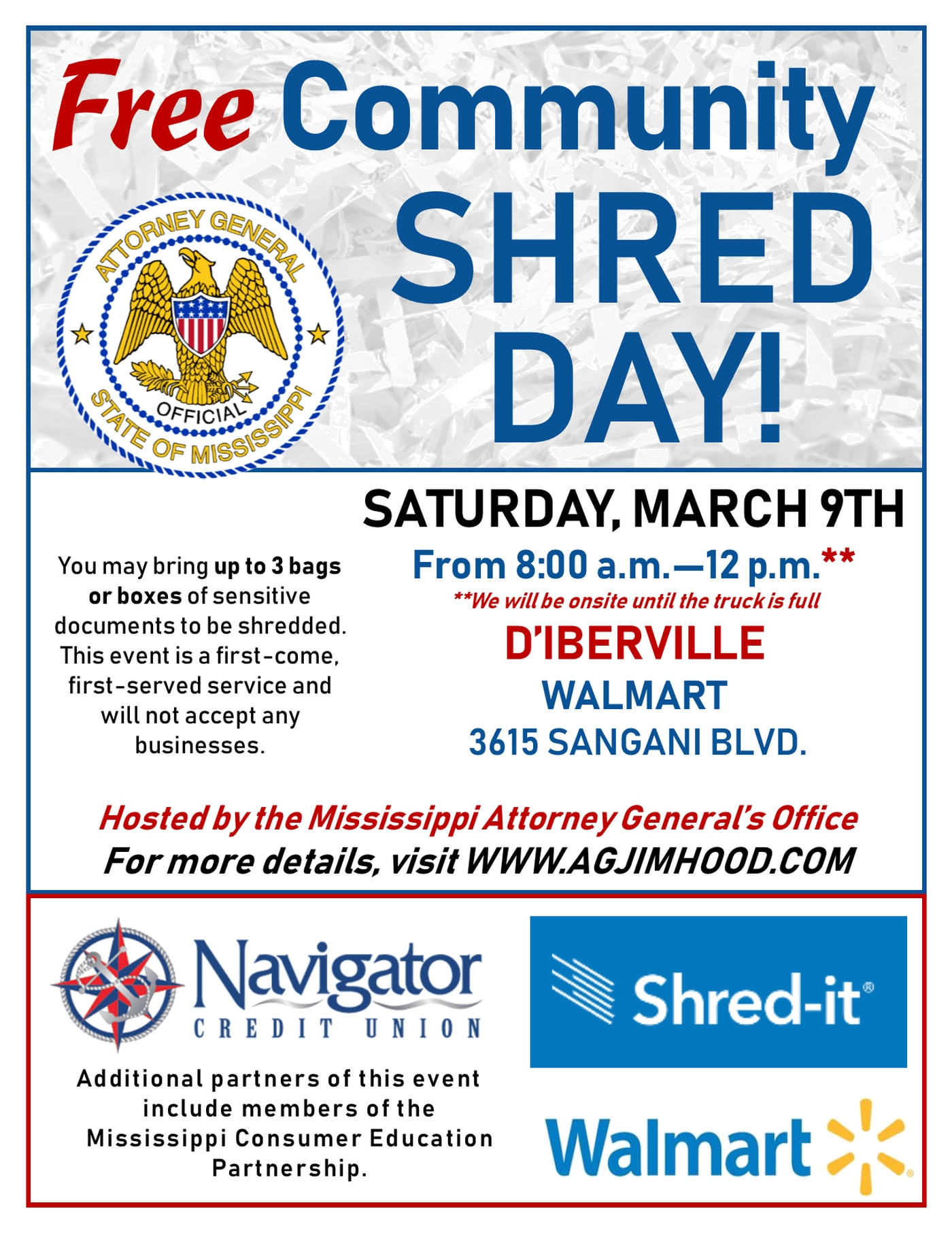 Community Shred Day set for March 9 in D'Iberville