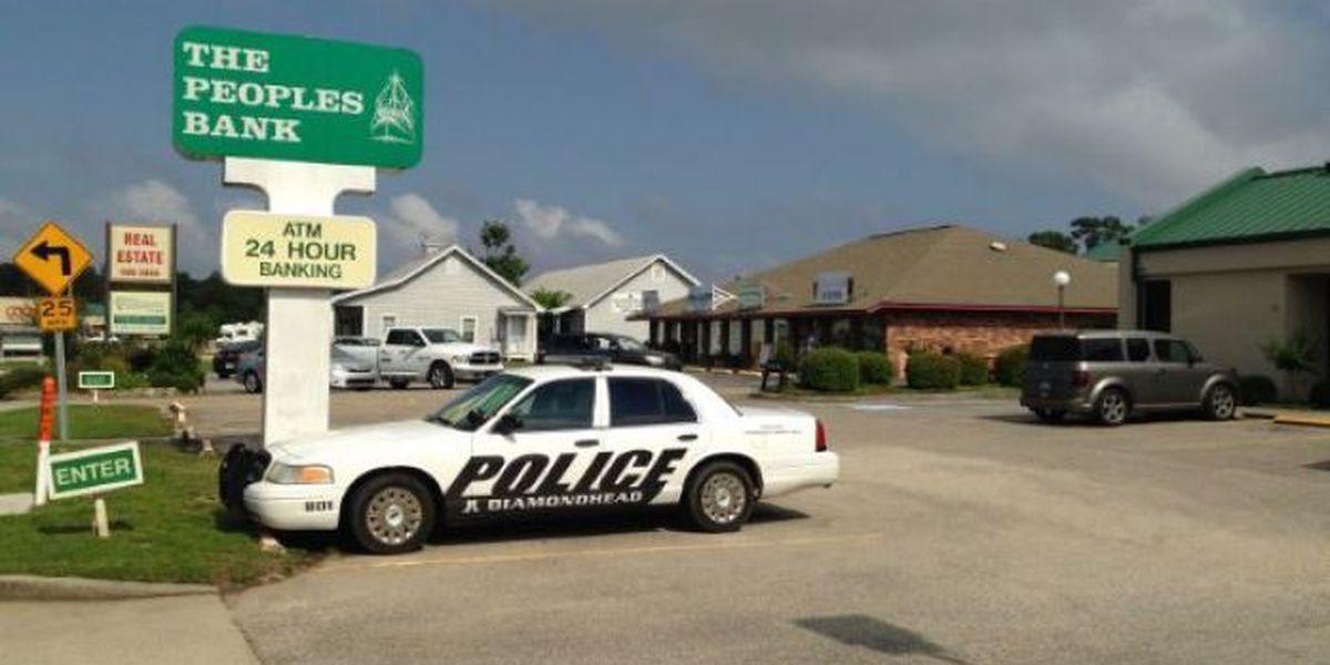 Deputies investigating incident at Diamondhead bank