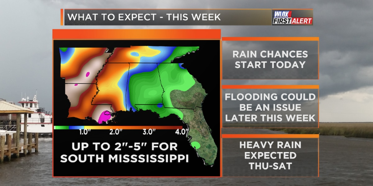 Heavy rain in the forecast with possible flooding