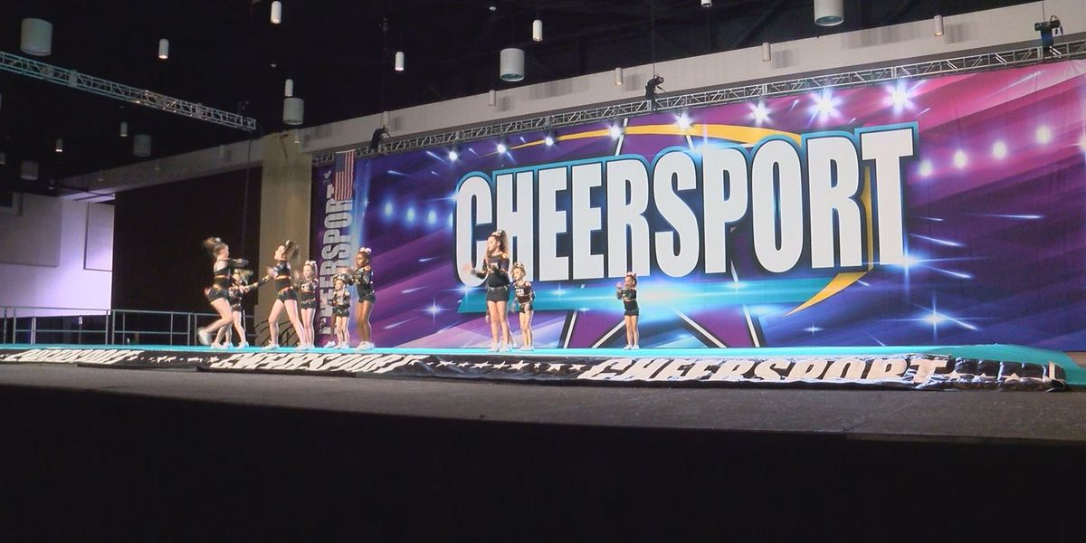 Coast cheerleaders 'give 110 percent' in Cheersport competition