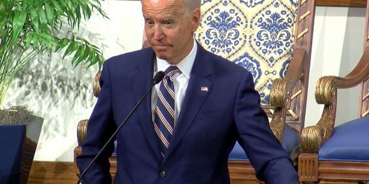 Joe Biden attends New Hope Baptist Church in Jackson