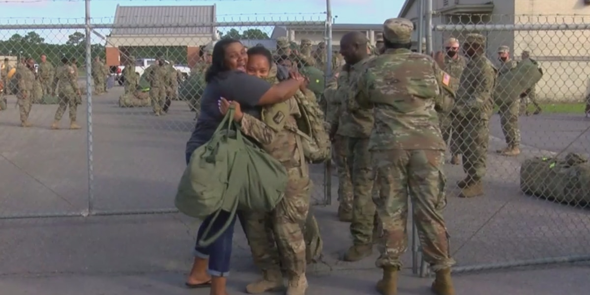 Families welcome home soldiers from the Mississippi Army National Guard