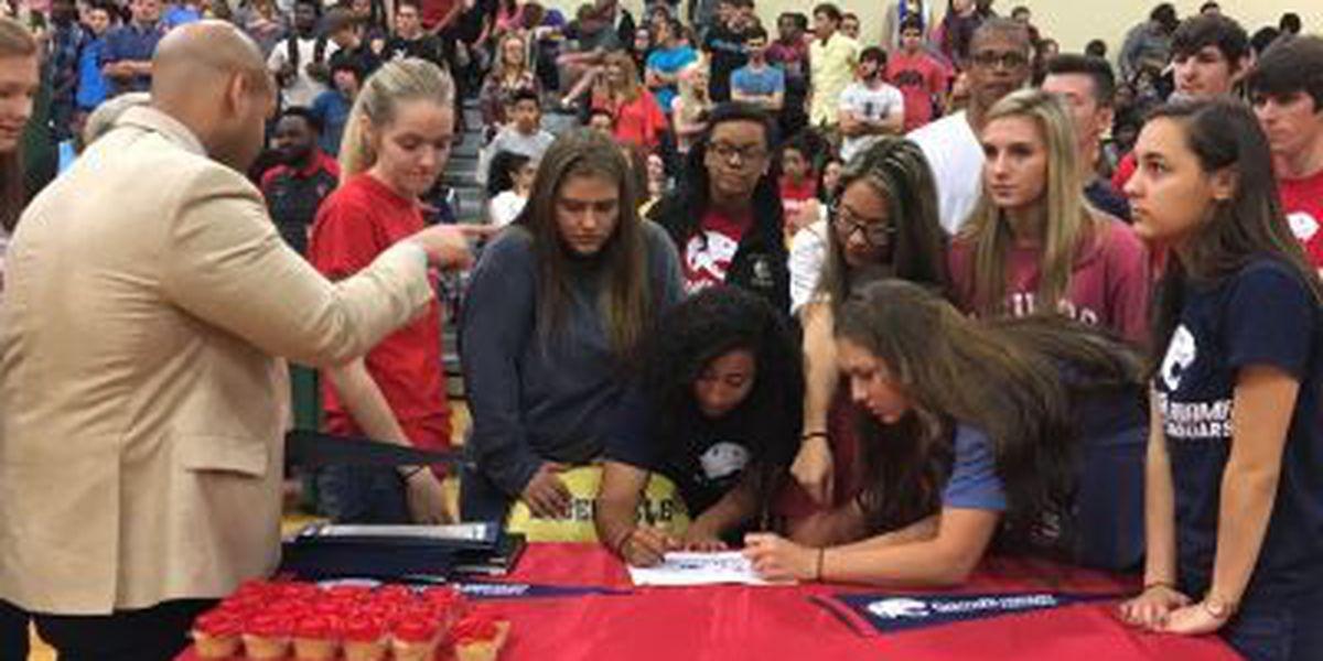 D'Iberville High celebrates record-setting scholarship class