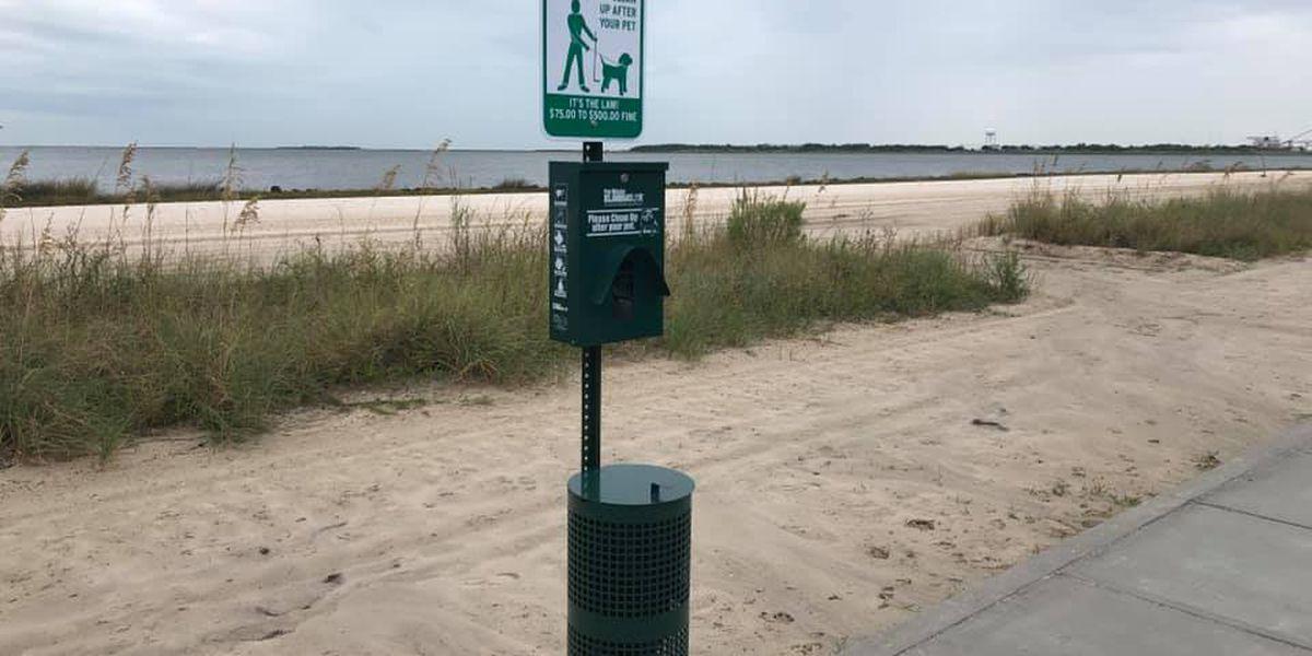 Pascagoula installs pet waste stations along Beach Boulevard