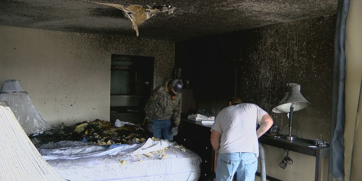 Fire does not deter motel owner trying to help the homeless