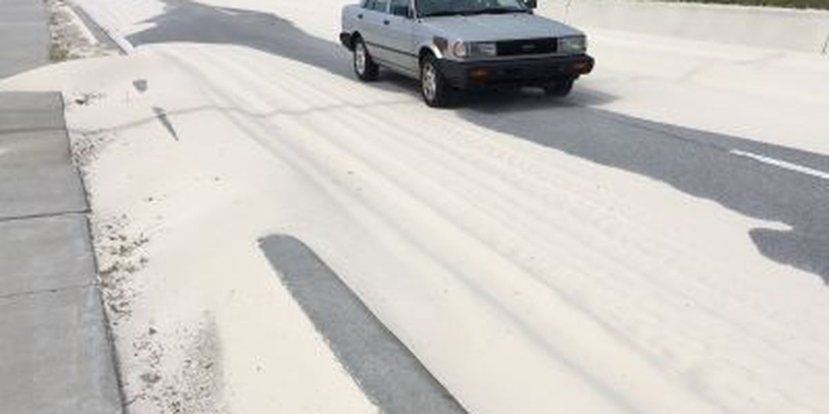 MDOT busy removing sand off Hwy. 90