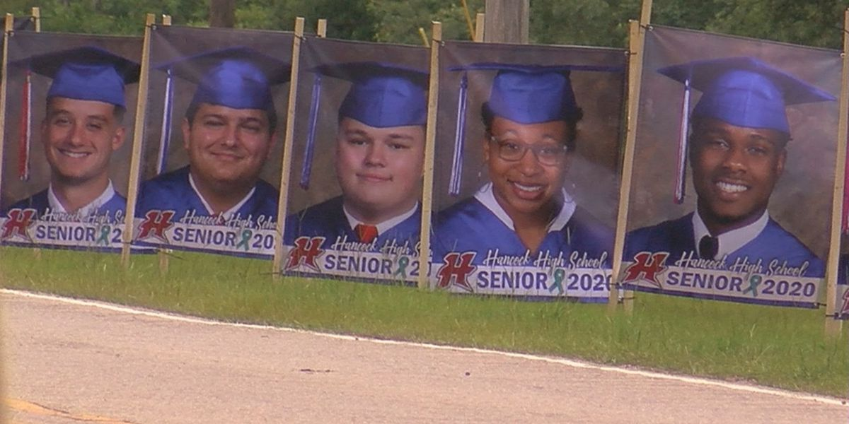Hancock High unveils banners of senior class of 2020