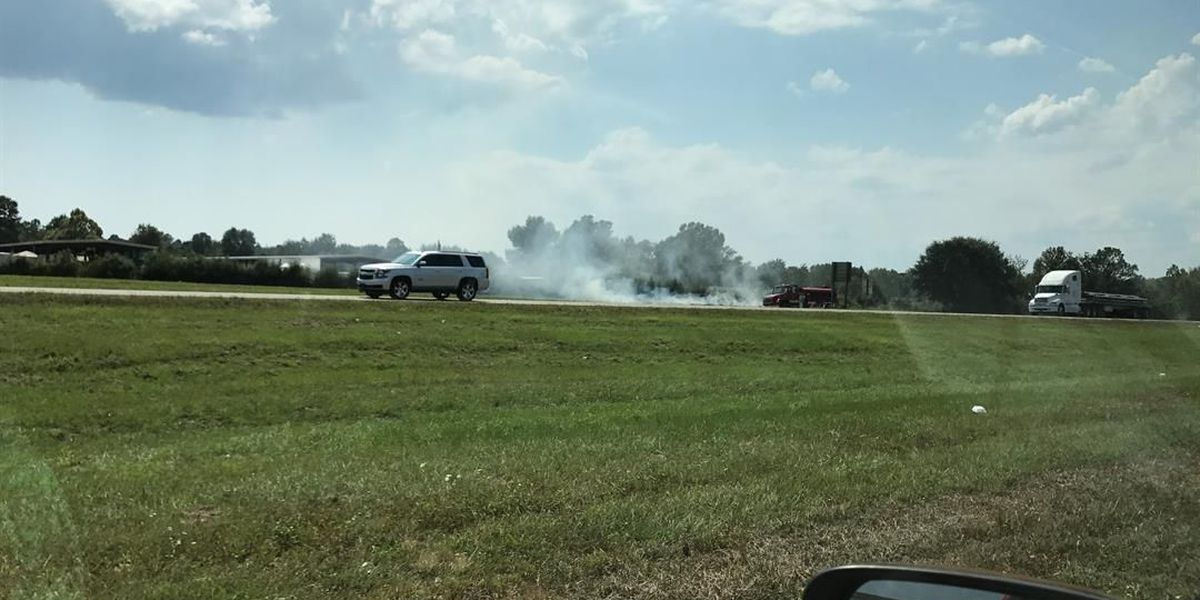 Grass fire delays eastbound I-10 traffic
