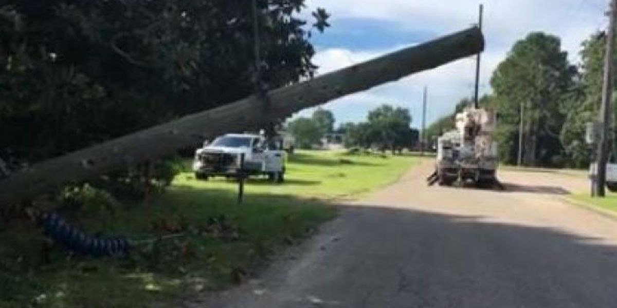 700 without power in Biloxi after truck brings down power pole