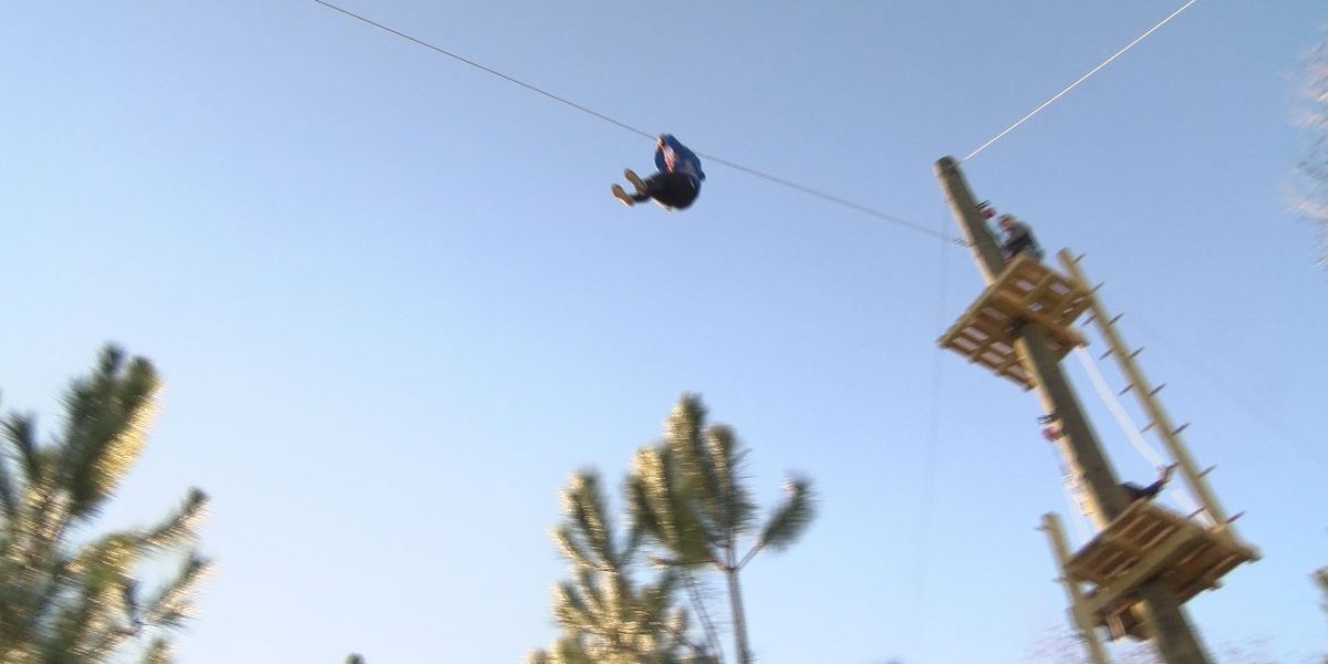Zip lining attraction new to the coast