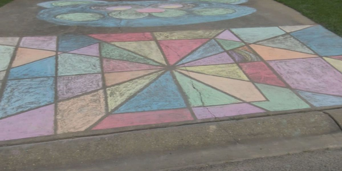 Latimer residents creating smiles with chalk art