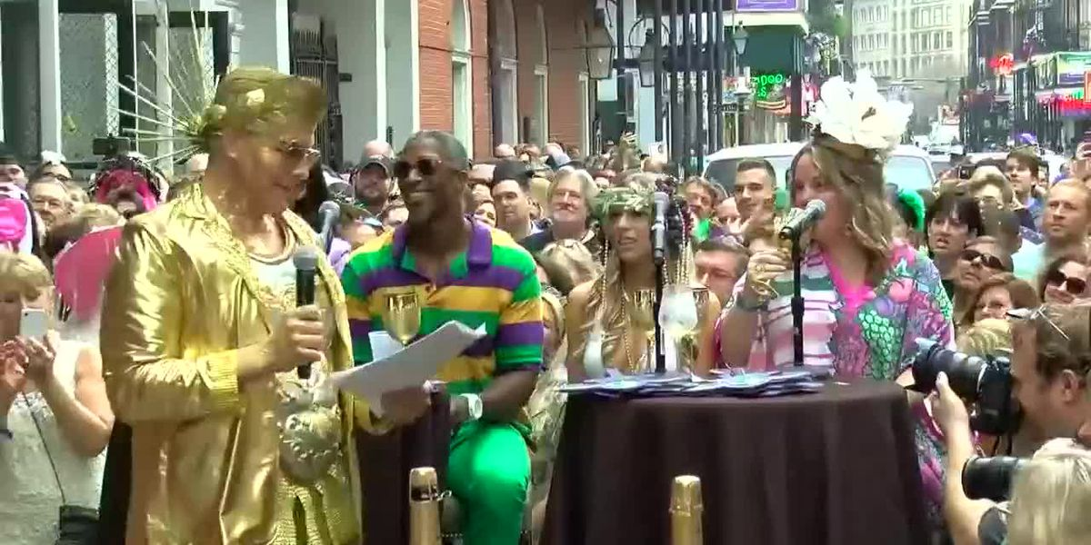 It's time for Greasing of the Poles on Bourbon Street!