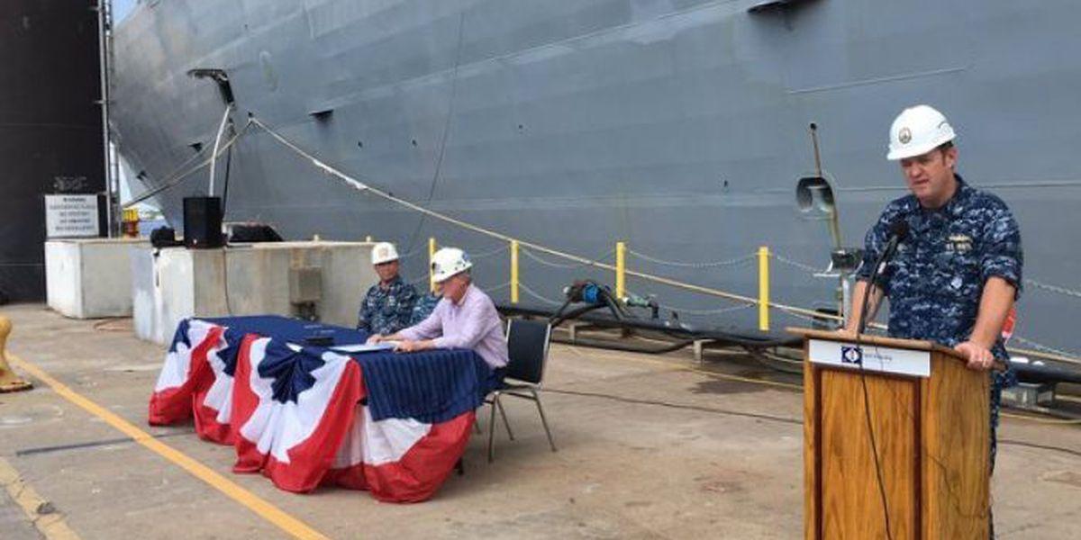 Ingalls transfers newest warship to U.S. Navy