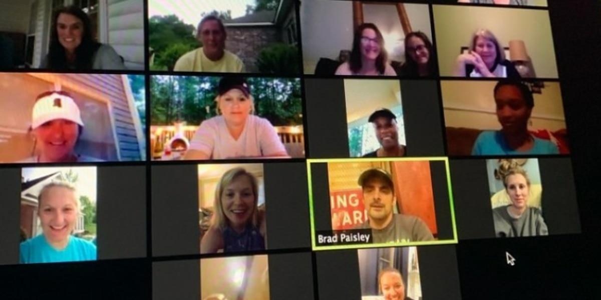 Brad Paisley crashes Miss. teachers' video meeting