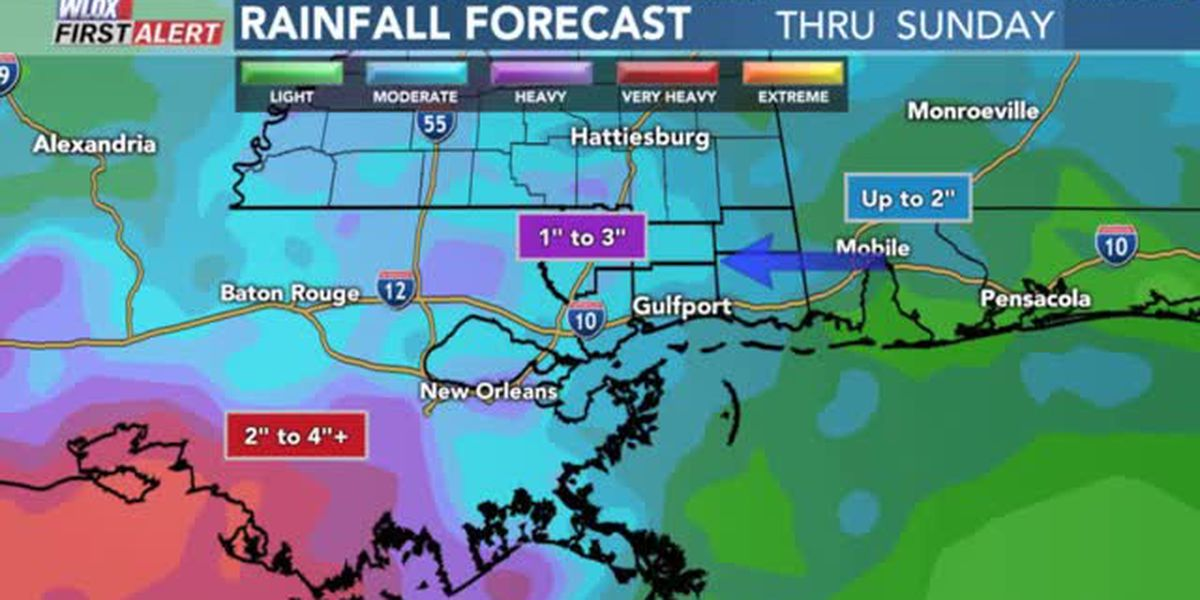 FORECAST VIDEO: 8-23-19 Scattered storms today. Wet weekend ahead?