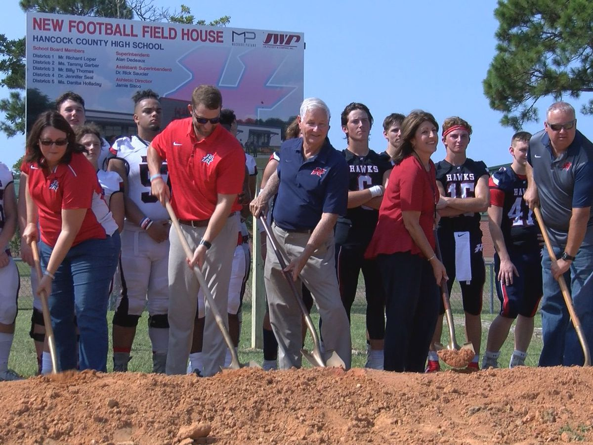 Hancock High breaks ground on new field house