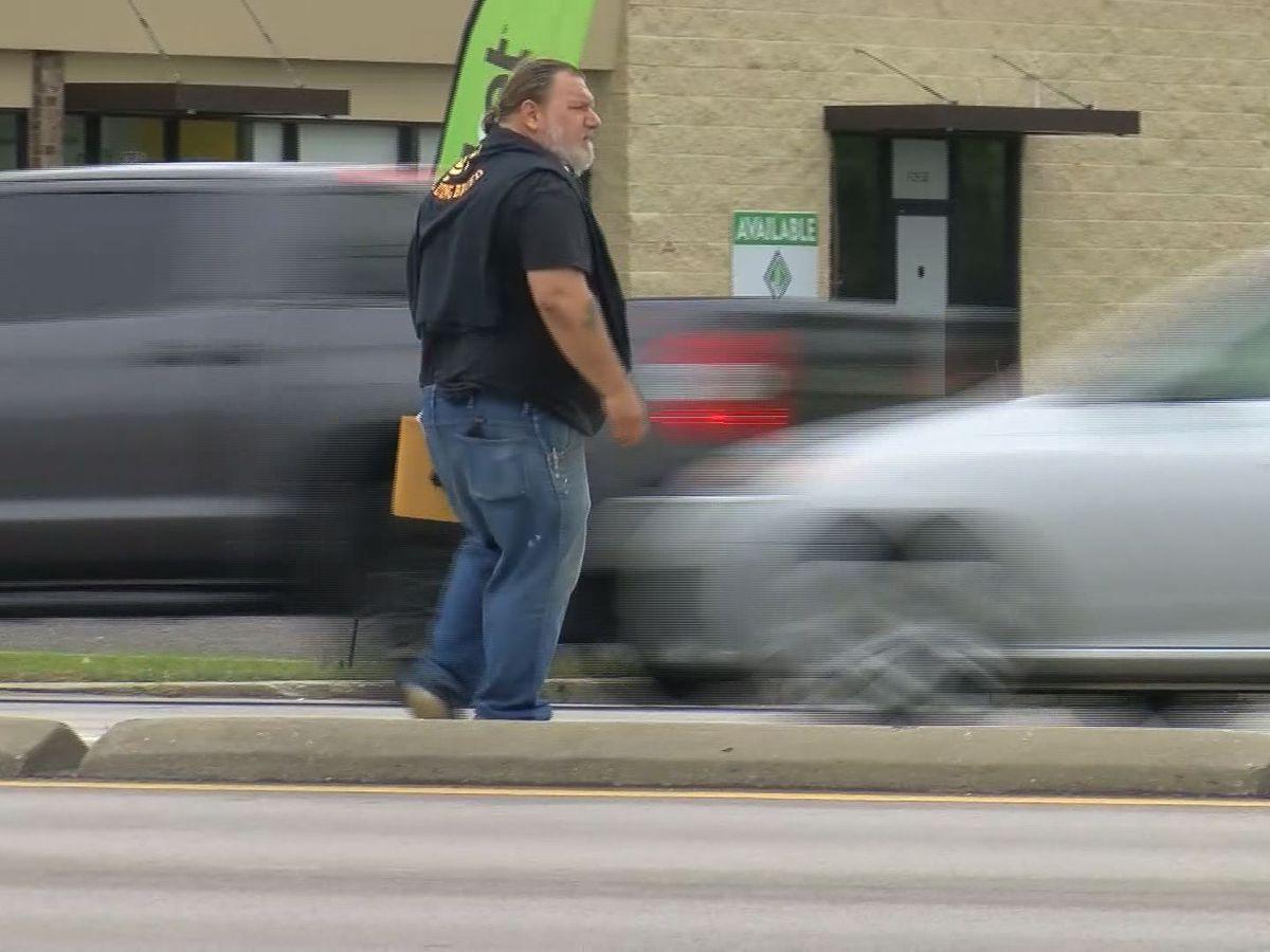 Pedestrians routinely make dangerous trek across U.S. 49
