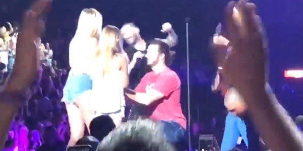VIDEO: Maroon 5 helps Biloxi man with unforgettable marriage proposal