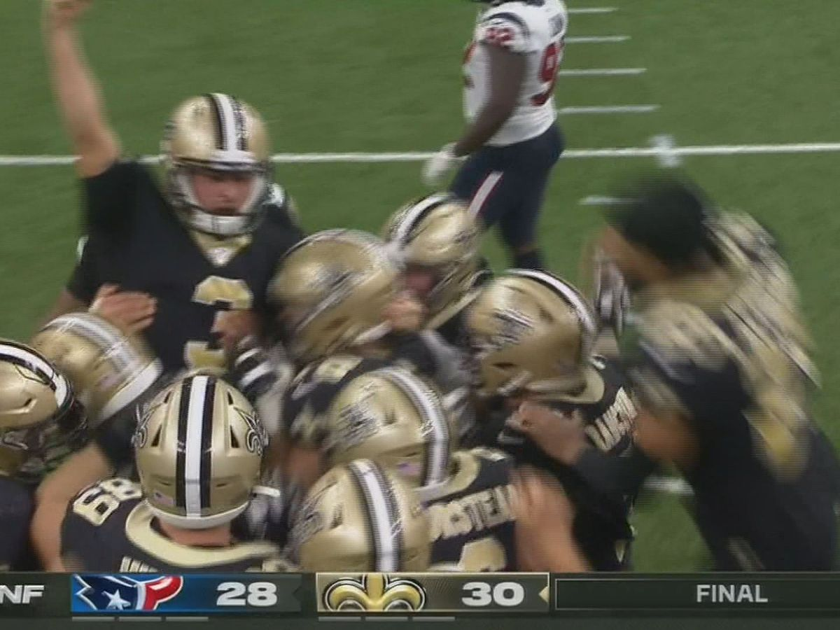It's Up and It's Good: Wil Lutz kicks 58-yard walk-off FG to end Saints season opener drought