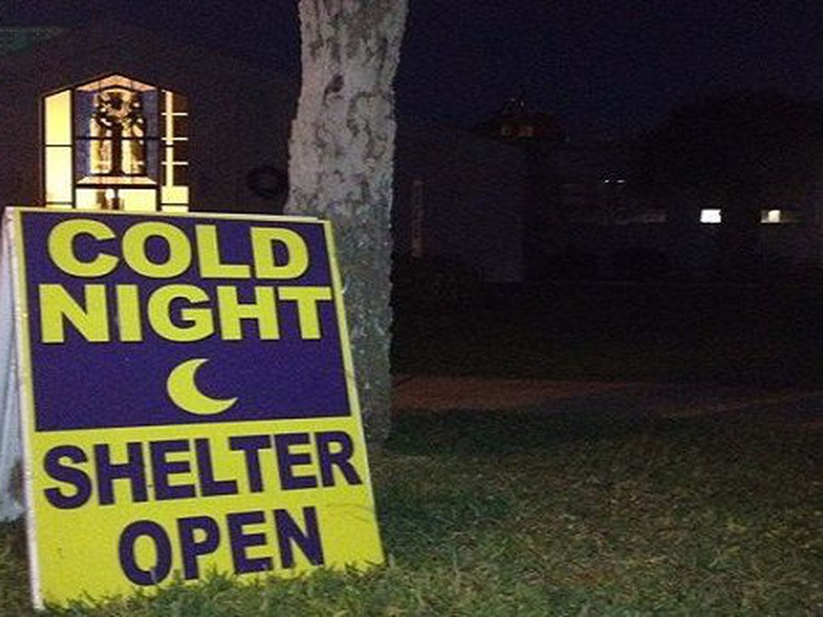Cold weather shelters open in South Mississippi