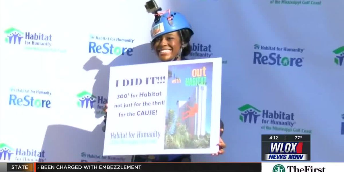 Coast celebrities go Over the Edge for Habitat for Humanity