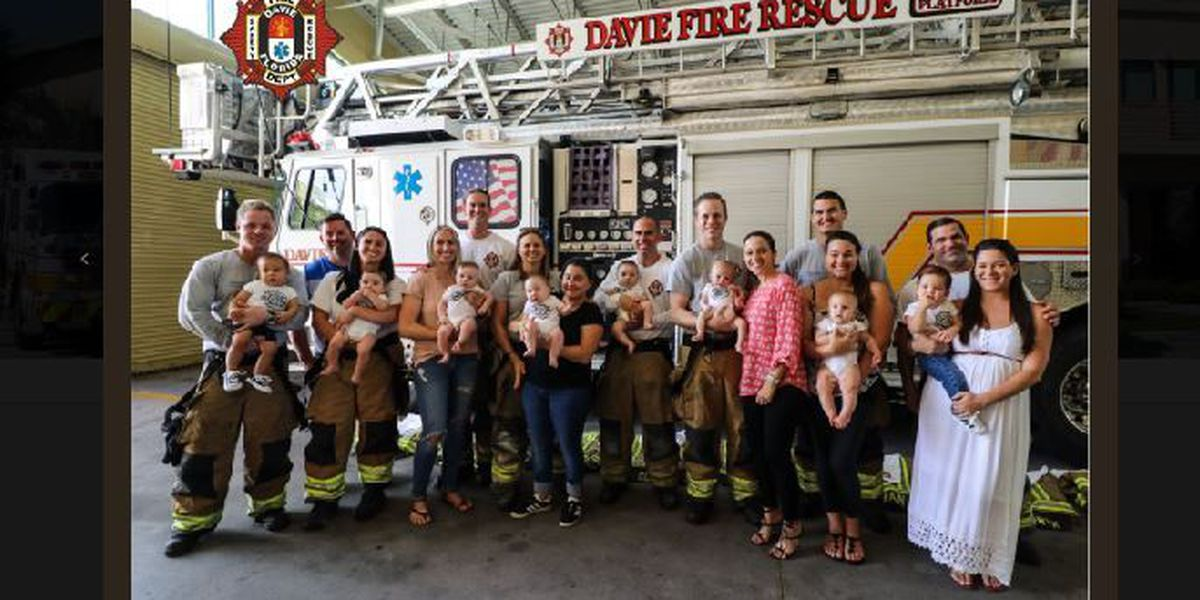 Florida fire station welcomes 9 babies in 10 months