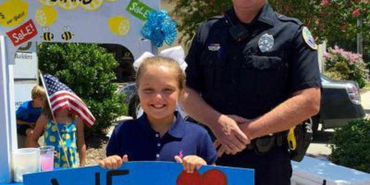 Long Beach girl raises nearly $350 for fallen officers