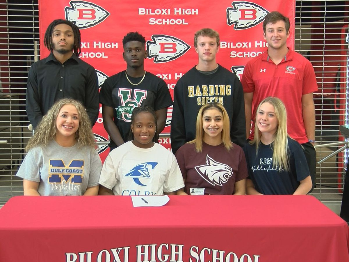 Biloxi High School celebrates eight seniors on signing day