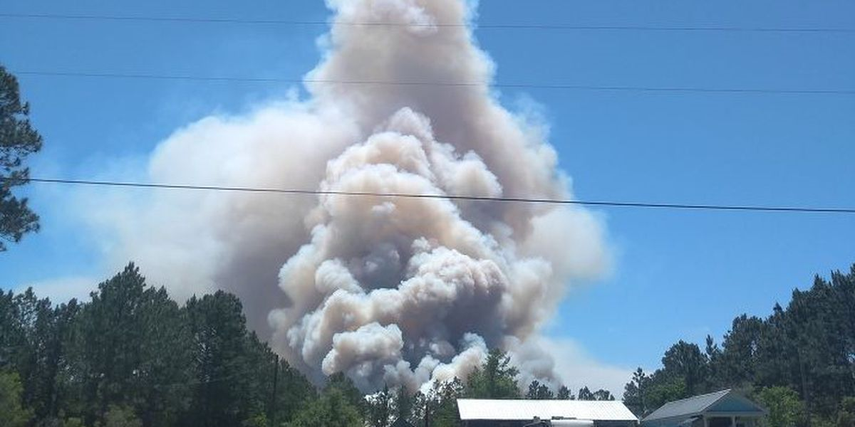 Firefighters in Hancock Co. continue to battle large fire as Miss. Forestry Commission encourages residents not to burn outdoors