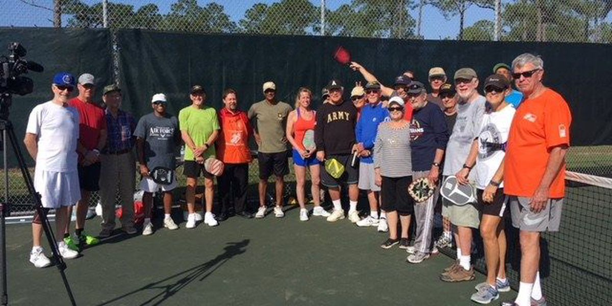 Pickleball in Biloxi! New storage shed built for supplies