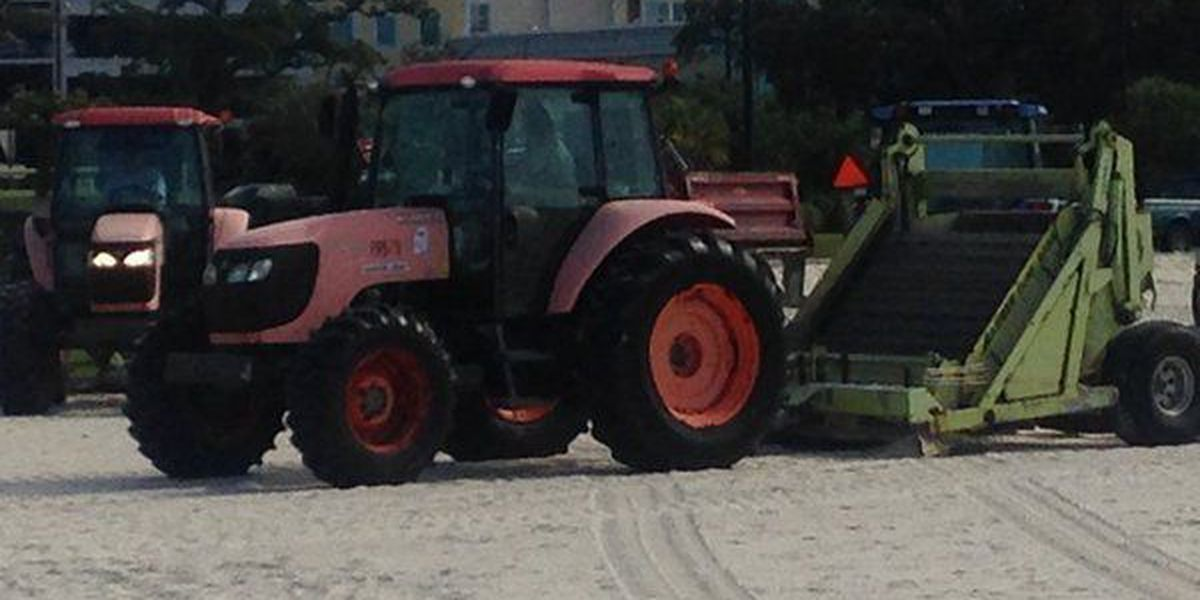 Officials work to clear dead fish along the Coast
