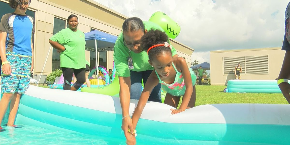 Pediatric rehab patients take break from therapy for splashing good time